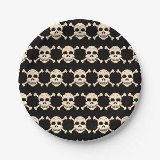 Skull & Crossbones Paper Plates