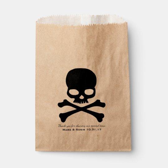 Skull Crossbones Personalized Favour Bag