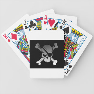 Skull Crossbones Pirate Flag Fade Eye Patch Bicycle Playing Cards