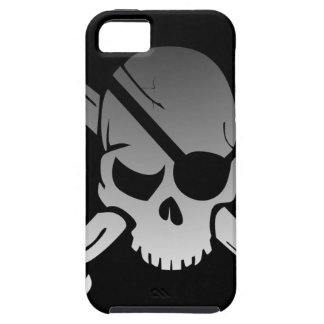 Skull Crossbones Pirate Flag Fade Eye Patch Case For The iPhone 5