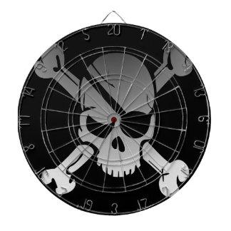 Skull Crossbones Pirate Flag Fade Eye Patch Dartboard