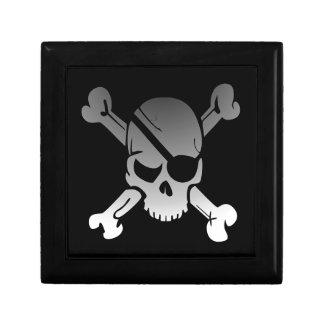 Skull Crossbones Pirate Flag Fade Eye Patch Gift Box