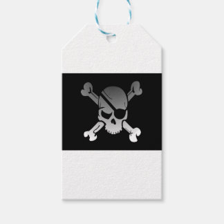 Skull Crossbones Pirate Flag Fade Eye Patch Gift Tags