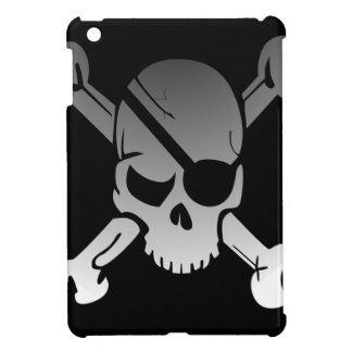 Skull Crossbones Pirate Flag Fade Eye Patch iPad Mini Case