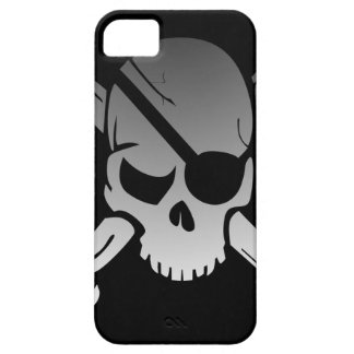 Skull Crossbones Pirate Flag Fade Eye Patch iPhone 5 Covers