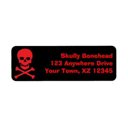 Skull & Crossbones Return Address Label