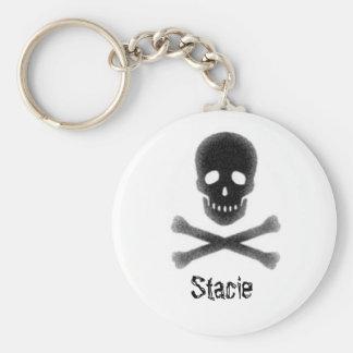 Skull & Crossbones, Stacie Keychain