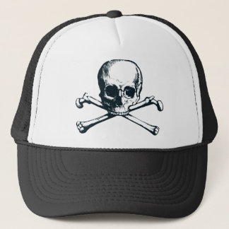 skull crossbones trucker hat