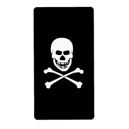 Skull & Crossbones Wine Labels