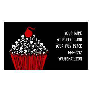 Skull Cupcake Business Cards Business Card