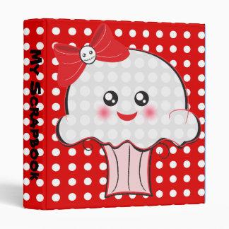 "Skull Cupcake Kawaii 1"" notebook 3 Ring Binders"