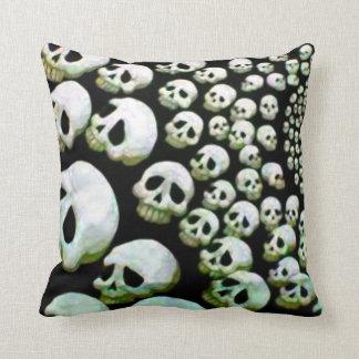 Skull Cyclone - Death Clock - Dead Heads Throw Pillow