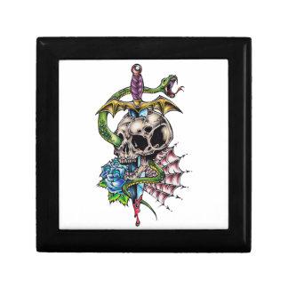 Skull & Dagger Tattoo Jewelry Boxes