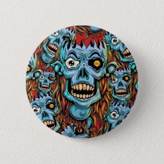 skull dark elf with no brain 2 inch round button