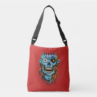 skull dark elf with no brain crossbody bag