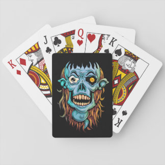 skull dark elf with no brain playing cards
