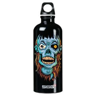 skull dark elf with no brain water bottle