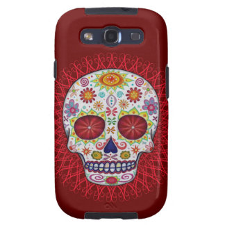 Skull Day of the Dead Samsung Galaxy S3 Vibe Case