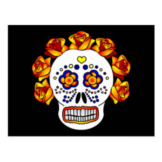 Skull Day of the Dead - Sugar Skull Postcard