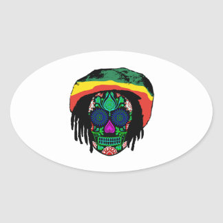 Skull Daze Oval Sticker