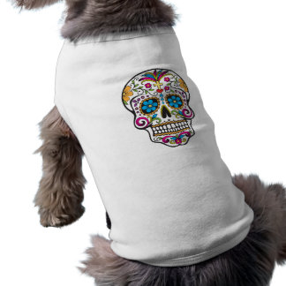 skull decorated pet clothing