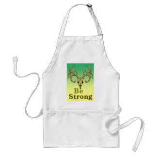 Skull deer Be strong quotes Standard Apron