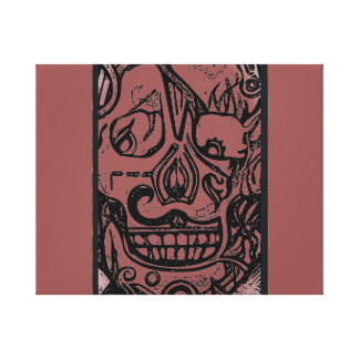 Skull design #1 canvas print