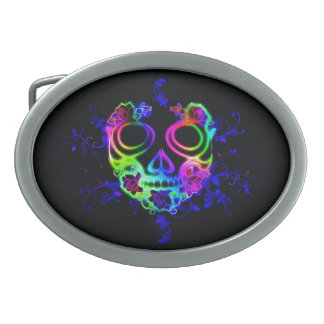 Skull design belt buckles