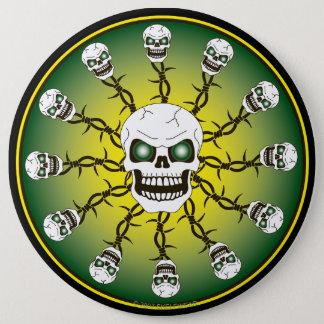 Skull Design Button