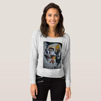 Skull Design Flowey Off Shoulder Shirt