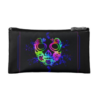 Skull design makeup bag