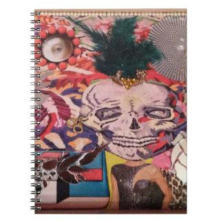 Skull design notebook. spiral notebook