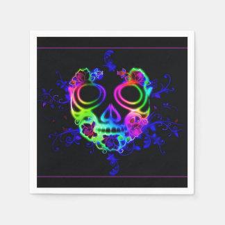 Skull design paper napkin
