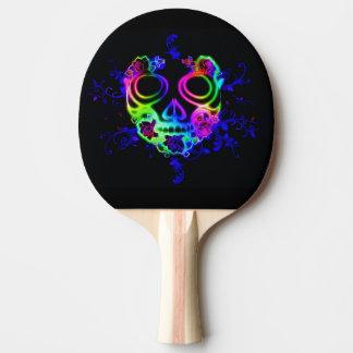 Skull design ping pong paddle