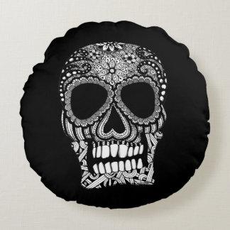 Skull Design Round Pillow
