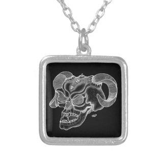 Skull Devil head Black and white Design Personalized Necklace