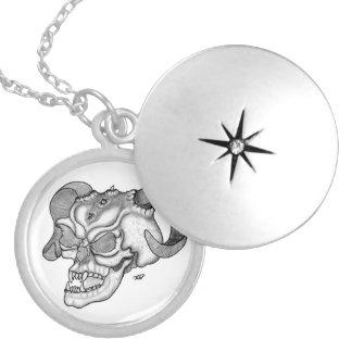 Skull Devil head Black and white Design Lockets
