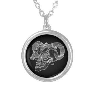 Skull Devil head Black and white Design Necklaces