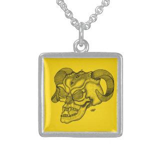 Skull Devil head Black and Yellow Design Custom Jewelry