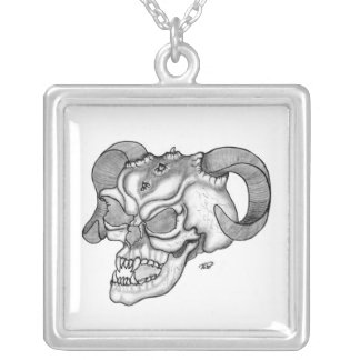 Skull devil head black knows design pendant