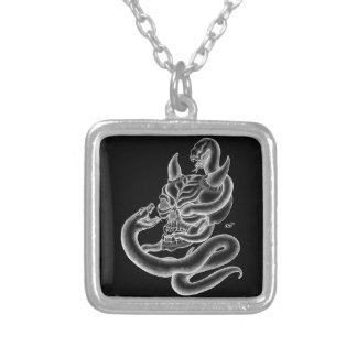 Skull - Devil Head with Snake Custom Necklace