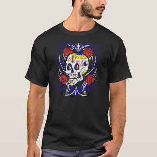 Skull Dia De Los Muertos Counter Culture T-Shirt