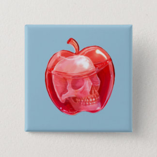 Skull Doodle Art Square Button