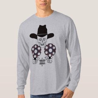 skull double gun badge Dodge City, Kansas sheriff T-Shirt