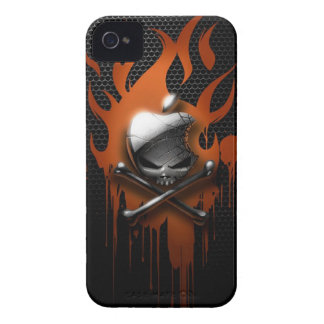 Skull & Dripping Flames Case-Mate iPhone 4 Cases