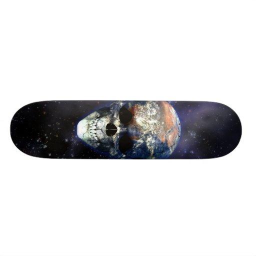 Skull Earth Skateboard Decks