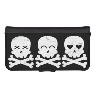 Skull Emotions iPhone SE/5/5s Wallet Case