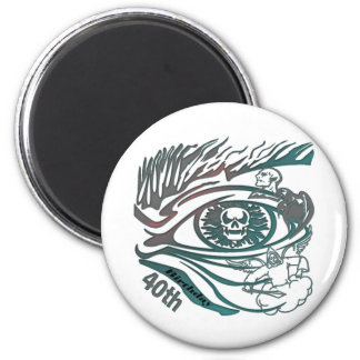 Skull Eye 40th Birthday Gifts Fridge Magnet