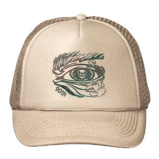 Skull Eye 90th Birthday Gifts Trucker Hat