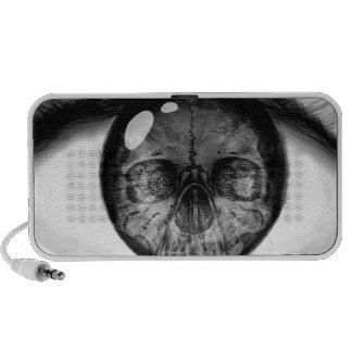 Skull eye double vision laptop speakers